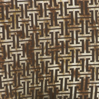 Fabric flower brown